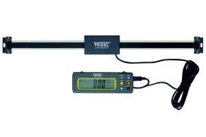 Anbaumessschieber, Anbau-Lineale mit externer Digital-Anzeige für vertikalen und horizontalen Einbau.