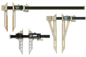 Digitale Präzisions Messschieber bis 5000 mm Messbereich in Leichtbauweise mit Sylvac System