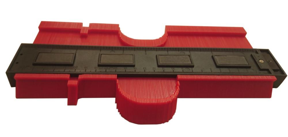 Profillehre, Nadelschablone mit Kunststoffnadeln 250 mm