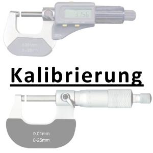 Kalibrierung inkl. Zertifikat Bügelmessschraube bis 100 mm
