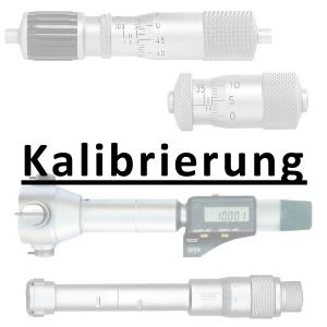 Kalibrierung inkl. Zertifikat Innenmessschraube bis 100 mm