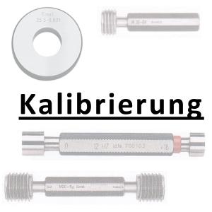 Kalibrierung inkl. Zertifikat Grenzlehrdorn bis 50 mm