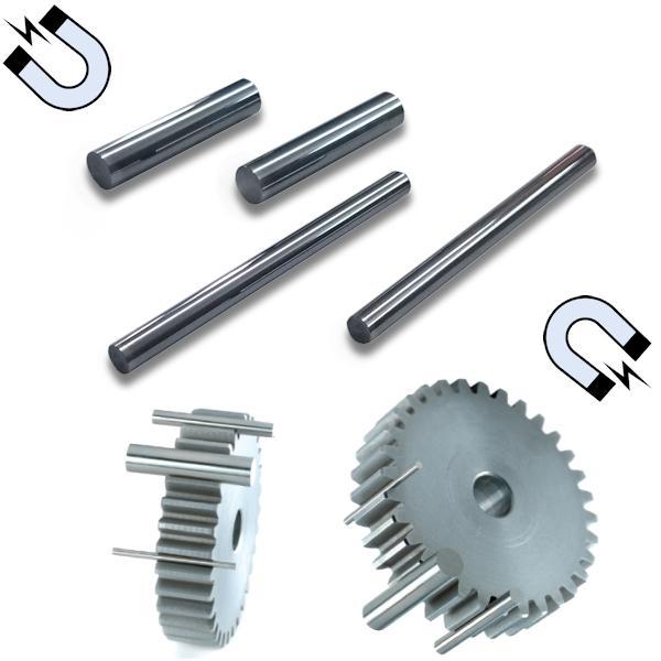 Magnetische Einzelprüfstifte, ±1,0 µm, Länge 50 mm, Ø 4,0 mm - 18,0 mm