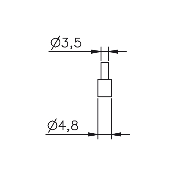 Messeinsatz plan, rund, Paar Ø 4,8mm