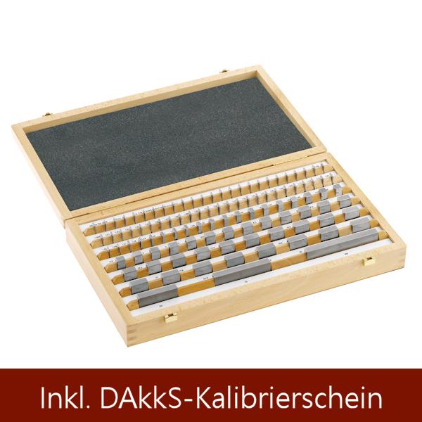 Parallel-Endmaßsatz aus Stahl, Güte 1 103 Stück