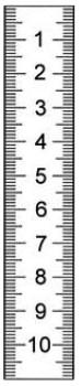 Rostfreier Stahlmaßstab in Sonderausführung 1000 x 18 x 0,5 mm