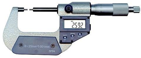 Digital Messschraube mit abgesetzten Messflächen 0 - 25 mm