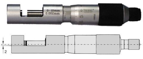 Drahtstärken - Messschraube DIN 863 0 - 13 mm