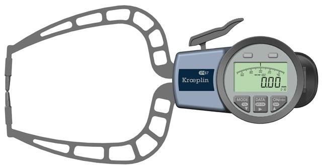 Außenmessgerät, Absolutmessgerät elektronisch 0 mm - 30,0 mm