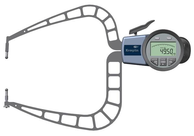 Außenmessgerät, Absolutmessgerät elektronisch 50 mm - 100 mm