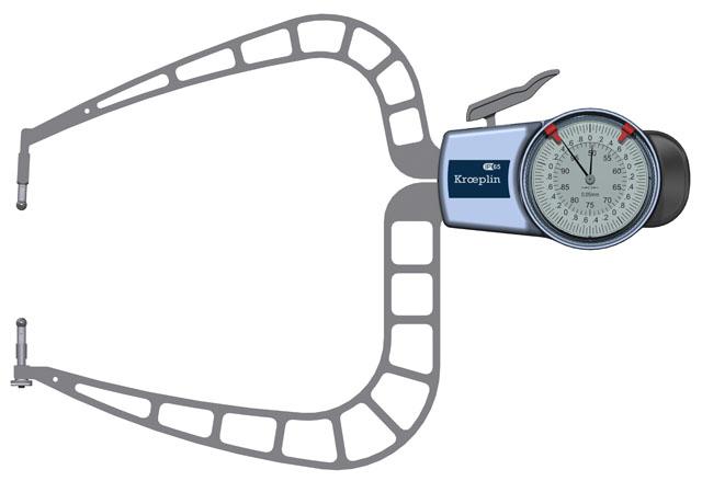 Außenmessgerät, Absolutmessgerät mechanisch 50 mm - 100,0 mm