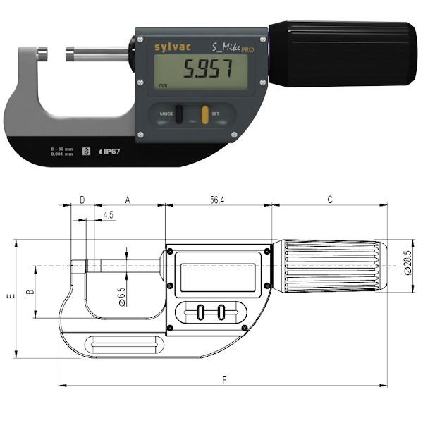 Digitale Bügelmessschraube S_Mike Pro 0 - 30 mm