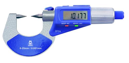 Digitale Messschraube mit spitzen Messflächen 0 - 25 mm