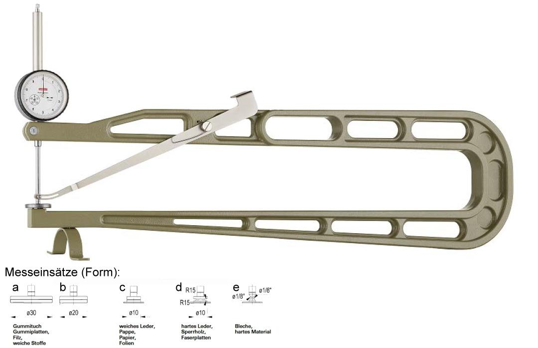 Dickenmessgerät mit Abhebevorrichtung und Aufstellfuß K 600/50-c