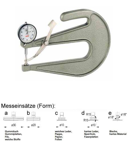 Dickenmessgerät mit Abhebevorrichtung J 200-a