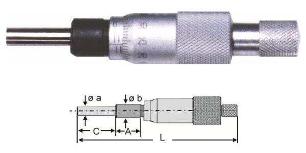 Kleine Einbaumessschraube 0 - 13 mm