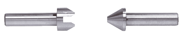 Gewinde-Messeinsatz Stahl gehärtet Aussen 3,5 - 5,0