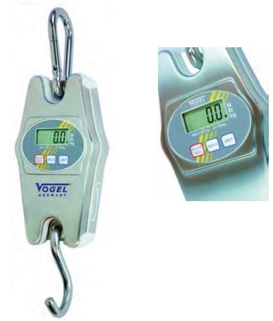 Elektr. Digital Hängewaage, Edelstahlgehäuse IP65 bis 20 kg / 50,0 g