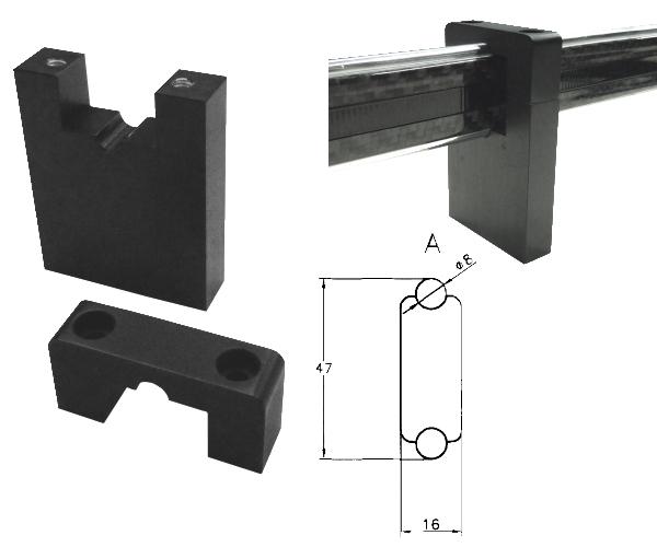 halter f r vergleichsmessger te mit carbon stange f r typ a. Black Bedroom Furniture Sets. Home Design Ideas