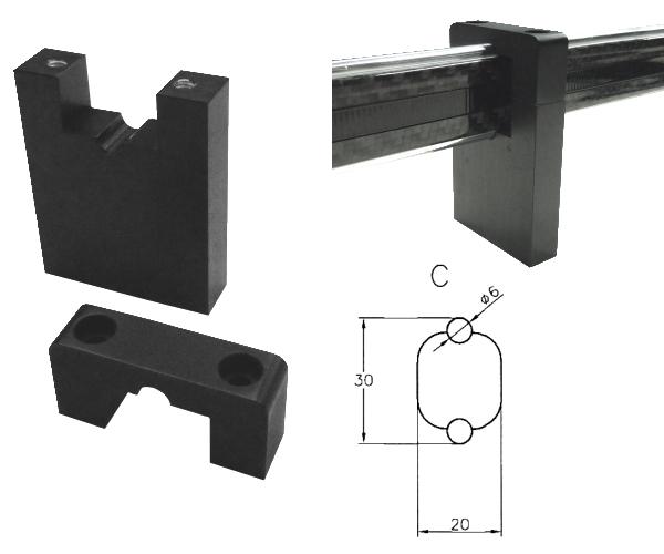 Halter für Vergleichsmessgeräte mit Carbon Stange für Typ C