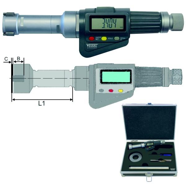 Digitale 3-Punkt Innenmessschraube IP54 6 - 8 mm