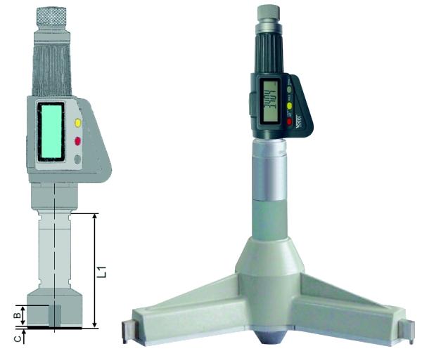 Digitale 3-Punkt Innenmessschraube IP54 300 - 325 mm