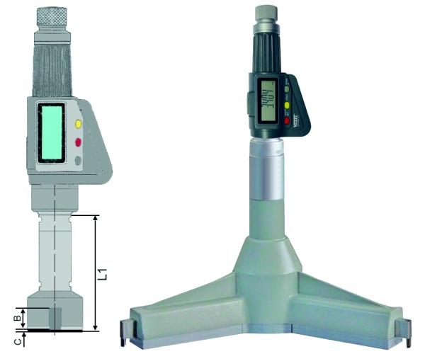 Digitale 3-Punkt Innenmessschraube IP54 100 - 125 mm
