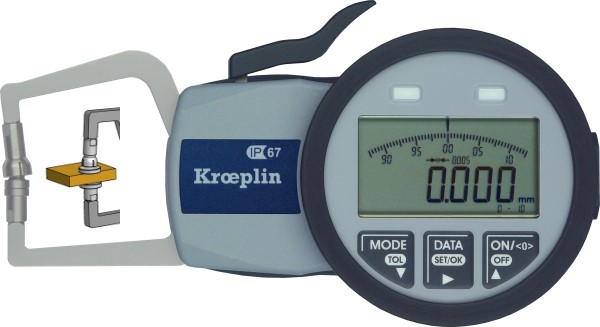 Außenmessgerät, Absolutmessgerät elektronisch 0 mm - 10,0 mm