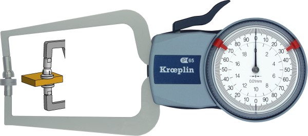 Außenmessgerät, Absolutmessgerät mechanisch 0 mm - 20,0 mm