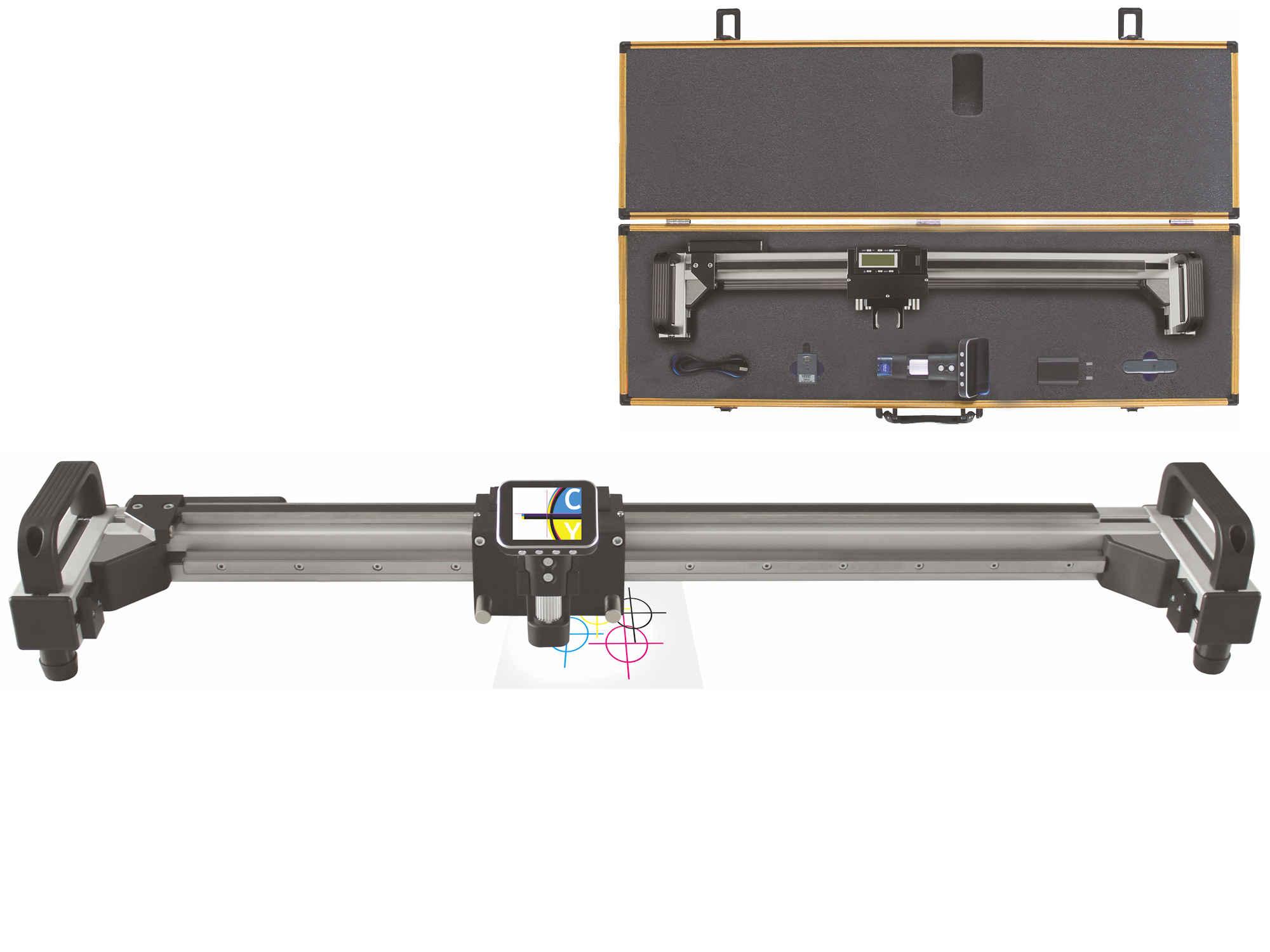 Digitaler Längenmaßstab mit Kamera und Farbdisplay