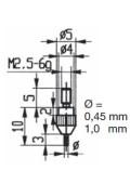Messeinsatz Hartmetallbestückt 1,00 mm Ø