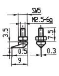 Messeinsatz Stahl 7,8 mm Ø