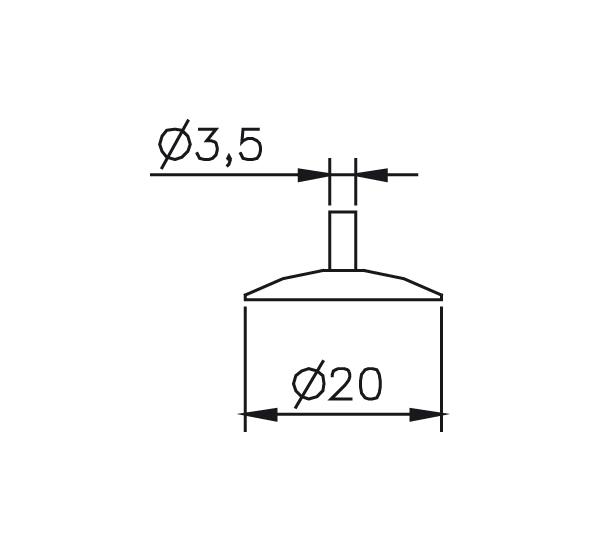 Messeinsatz Stahl gehärtet Messteller rund Ø20mm