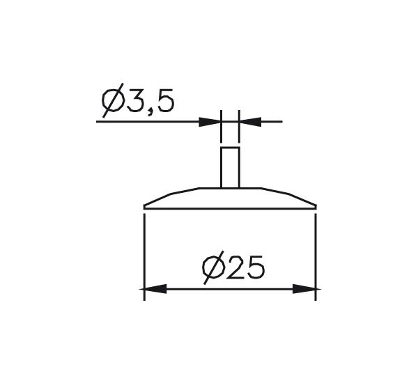 Messeinsatz Stahl gehärtet Messteller rund Ø25mm