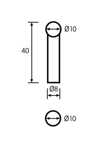 Messeinsatz Paar Vergleichsmessgeräte Ø 10mm, L = 40mm