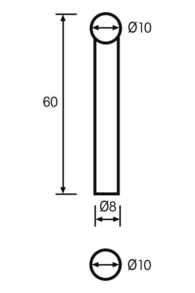 Messeinsatz Paar Vergleichsmessgeräte Ø 10mm, L = 60mm