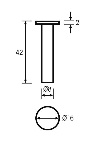 Messeinsatz Paar Vergleichsmessgeräte Ø 16mm, L = 42mm