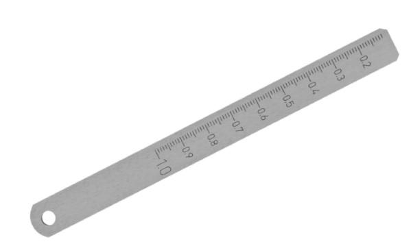 Messkeil aus Stahl blank 0,1 - 1,0 mm