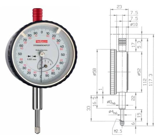Feinmessuhr  FM1000-5S 0 - 5 mm