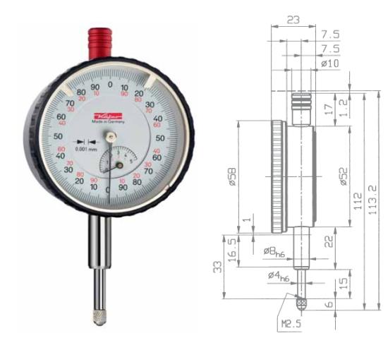Feinmessuhr  FM1000-5T 0 - 5 mm
