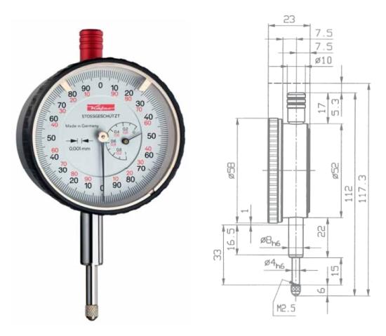 Feinmessuhr  FM1000S 0 - 1 mm