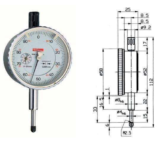 Feinmessuhr  Feinika FM 1101 0 - 1 mm
