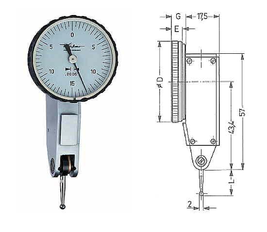 Fühlhebelmessgerät K 30 Z 0 - 0,030 inch