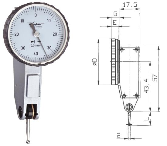 Fühlhebelmessgerät K 30 0 - 0,8 mm