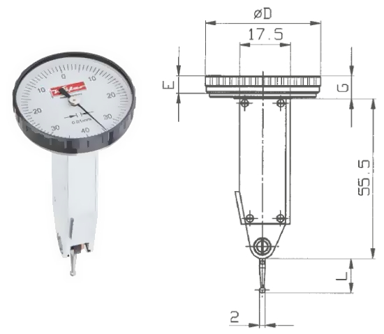 Fühlhebelmessgerät K 32 0 - 0,8 mm
