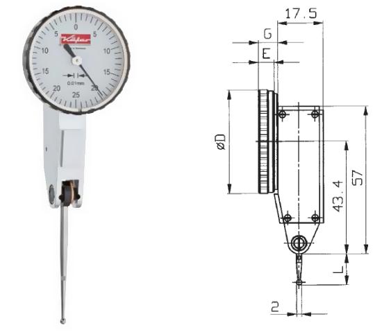 Fühlhebelmessgerät K 33 0 - 0,5 mm