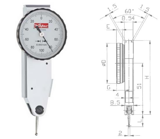 Fühlhebelmessgerät K 37 0 - 0,2 mm