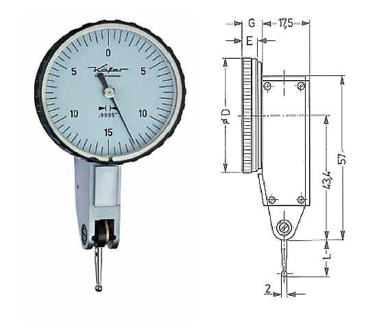 Fühlhebelmessgerät K 40 Z 0 - 0,030 inch