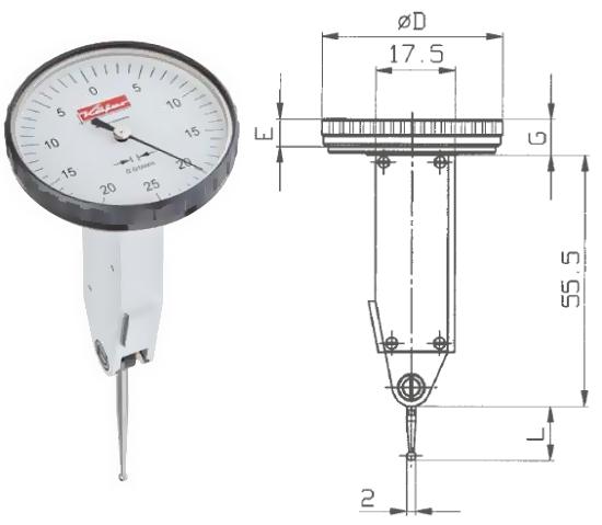 Fühlhebelmessgerät K 45 0 - 0,5 mm