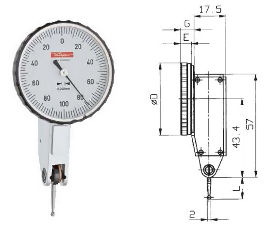 Fühlhebelmessgerät K 46 0 - 0,2 mm